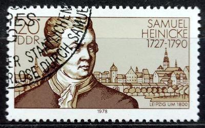 DDR: MiNr.2314 Samuel Heinicke and Leipzig (1800) 20pf 1978