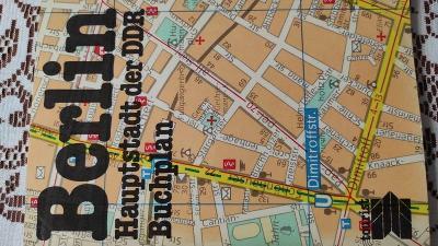 BERLIN Haupstadt der DDR Buchplan 1980