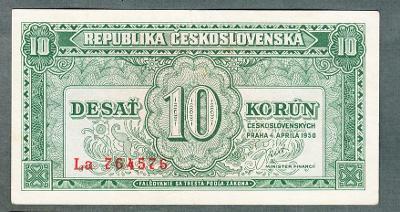 10 kčs 1950 serie LA NEPERFOROVANA