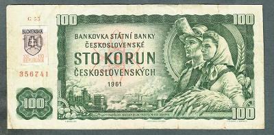 1000 kčs 1961 SLOVENSKÝ KOLEK