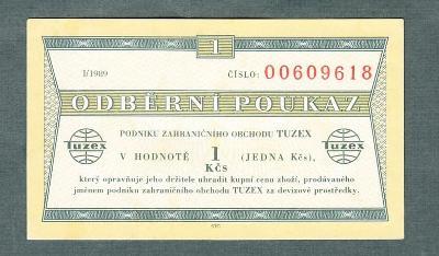 TUZEX BONY 1kčs 1989 stav 1+