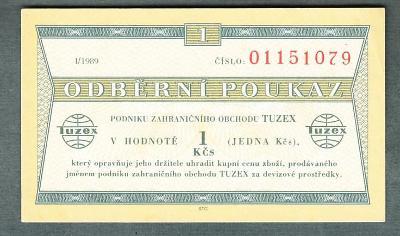 TUZEX BONY 1kčs 1989 stav 0