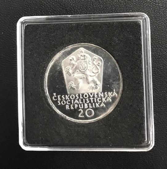 R!Stříbrná mince 20 Kčs PROOF Andrej Sládkovič 50. výročí úmrtí 1972 - Numismatika