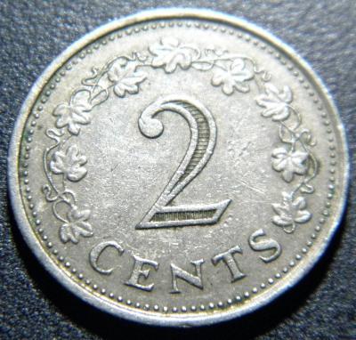 Malta 2 Cents 1972 XF č28919