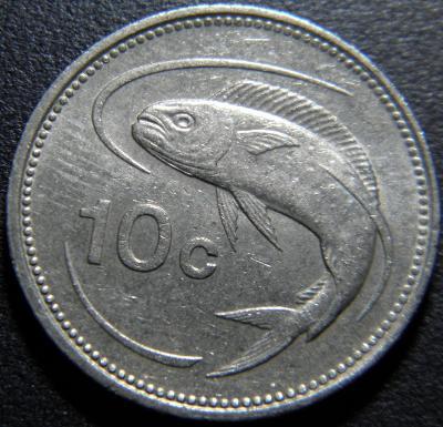 Malta 10 Cents 1986 XF č28875