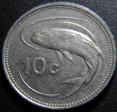 Malta 10 Cents 1986 XF č28877
