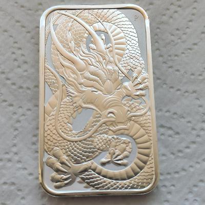 Stříbrná investiční mince 1 Oz Dragon 2021 Obdelník