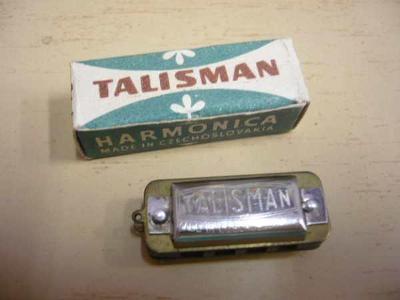 Miniaturní foukací harmonika TALISMAN Czechoslovakia (3 cm)