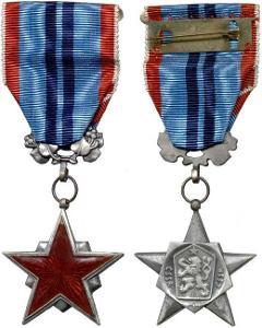 Vyznamenání Řád Rudé hvězdy práce + ministužka původní etue Ag STŘÍBRO