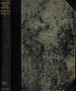 Kadeřávek, Klíma, Kounovský: Deskriptivní geometrie II. díl, 1932