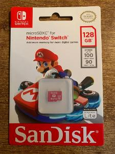 MICRO SDXC 128GB SANDISK - NINTENDO SWITCH - NOVÁ - ZABALENÁ
