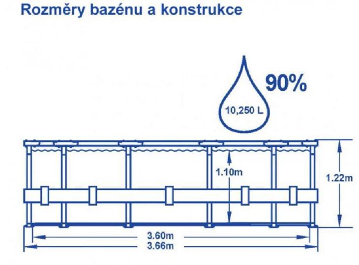 Bazén s konstrukcí 366 x 122 cm se schůdky - Zahrada