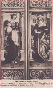 Náboženský motiv * svatá Barbora, žena, oltář, umělecká * X192