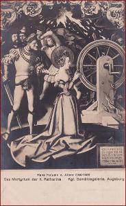 Náboženský motiv * svatá Kateřina, žena, lidé, oltář, umělecká * X194