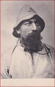 Muž * portrét, vousy, klobouk, studie, umělecká * X224