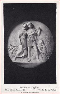 Socha (umělecká plastika) * žena, muž, obilí, žně, postava * X229