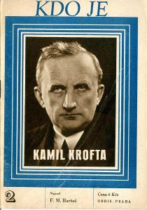 F. M. Bartoš: Kamil Krofta (1946; Kdo je)
