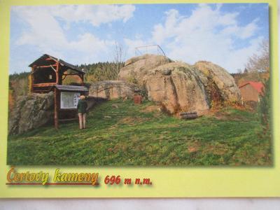 Rozhledna skalní vyhlídka Čertovy kameny Josefův Důl Jizerské hory