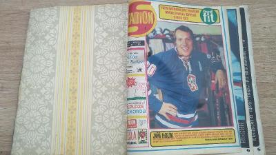Vázaný časopis STADION 1973 čísla 1 až 17