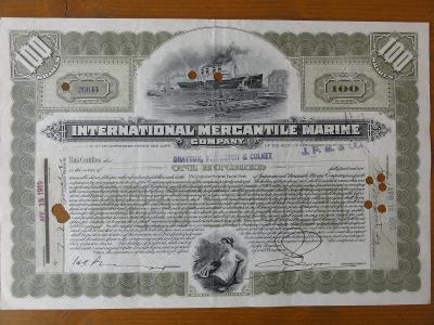 "Akcie ""INTERNATIONAL MERCANTILE MARINE COMPANY"" - vlastník TITANICU"