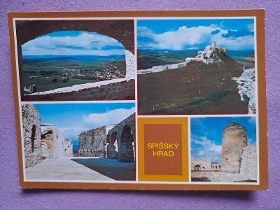 Pohlednice Spišský hrad,neprošlé poštou
