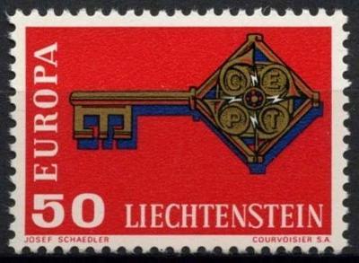 Lichtenštejnsko 1968 Evropa CEPT Mi# 495 0465