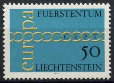 Lichtenštejnsko 1971 Evropa CEPT Mi# 545 0465