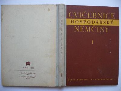 Cvičebnice hospodářské němčiny I. - Jana Sommerová - SPN 1961