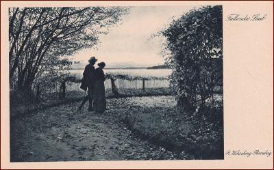 Žena * muž, dvojice, park, večerní krajina, umělecká * X236