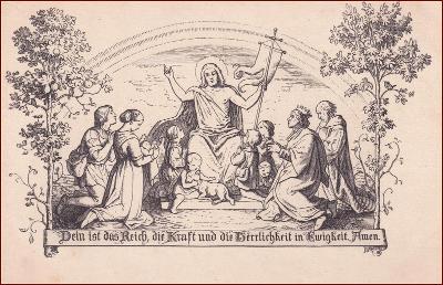 Náboženský motiv * svatý, lidé, modlitba, krajina, umělecká * X249