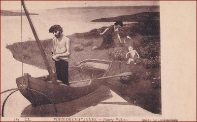 Rybář * lodě, sítě, lidé, krajina, umělecká * X251