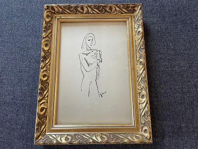 Mikuláš Galanda kresba