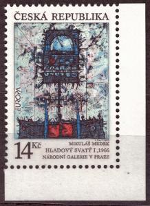 POF. 5 - HLADOVÝ SVATÝ, 1993, ROHOVÝ KUS S DV 4/A ČERVENÝ BOD (S2785)
