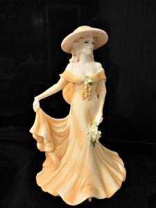 Porcelánová soška dáma luxusní kostní porcelán, panenka, figurka