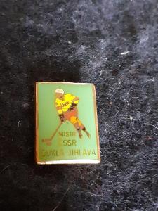 Odznak Dukla Jihlava mistr ČSSR 1983 - lední hokej, zelená varianta