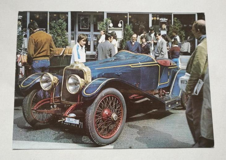 Pohled 100 let automobilů v Paříži - Pohlednice