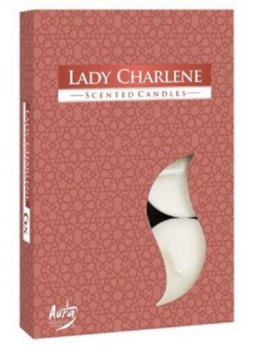 6 ks aromatické čajové svíčky AURA Lady Charlene