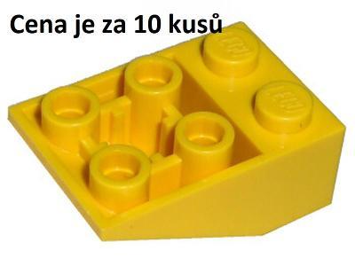 LEGO dílek 10 ks Žlutá Yellow Slope, Inverted 33 3 x 2 -3747b