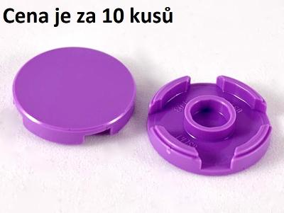 LEGO dílek 10 ks Medium Lavend Tile Round 2 x 2 with Bottom Stud 14769