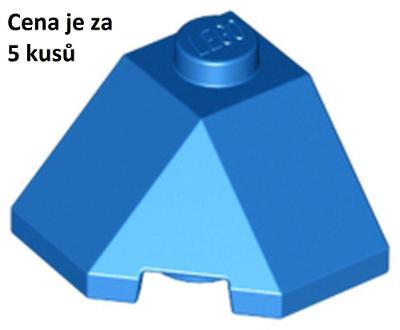 LEGO dílek 5 ks Modrý Blue Wedge 2 x 2 (Slope 45 Corner)