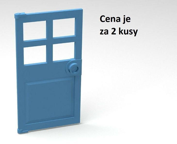 LEGO dílek 2 ks Bledě modrá - Medium Blue Door 1 x 4 x 6 - 60623 - Hračky