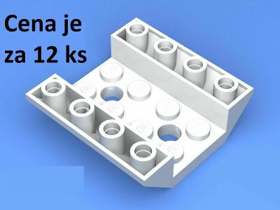 LEGO dílek 12 ks Slope, Inverted 45 4 x 4 Double with 2 Holes 72454