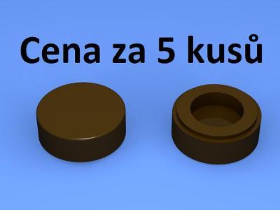 LEGO dílek 5 ks Dark Brown Tile, Round 1 x 1 - 98138 , 35380 , 35381