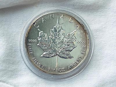 Stříbrná investiční mince Maple Leaf 1 OZ 1989