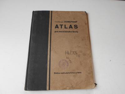 Zeměpisný ATLAS - vydání pro slovensko - r.1934
