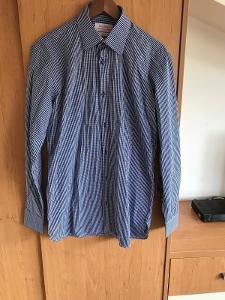 Business košile nová modrá slim fit