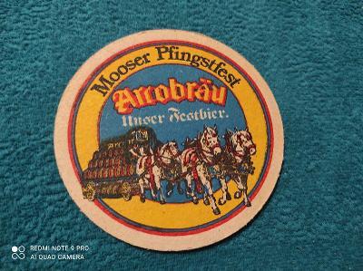 Mooser Pfingstfest Arrobräu pivní tácek