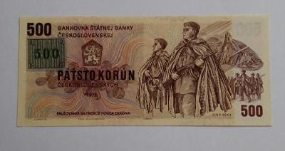 1973Československo 500 Kčs, ČR kolek