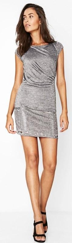 Desigual vest_Mihaela luxusní slim překrásné strečové šaty/XL 46/NOVÉ