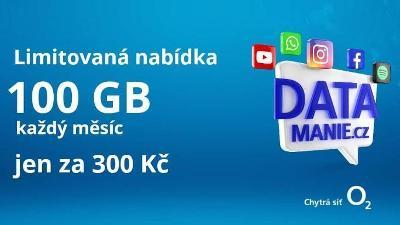 O2 sim 100 GB za 300 Kč měsíčně ** NESKUTEČNĚ OBROVSKÁ PORCE DAT